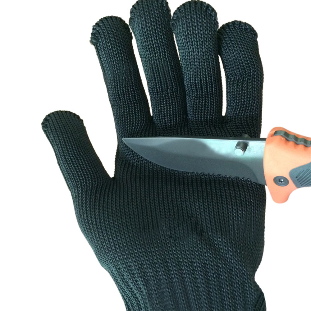 Pair Stainless Wire Anti-Slash Cut Proof Static Resistance Gloves Size S M L