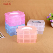 Free shipping multifunctional plastic storage box small portable storage box double box manufacturers selling
