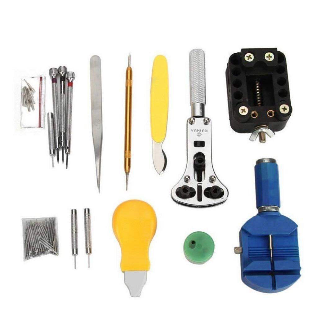 Shellhard 144Pcs Watch Tools Watch Opener Remover Spring Bar Repair Pry Screwdriver Clock Watch Repair Tool Kit Watchmaker Tools