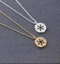 Collares Promotion Collier Maxi 2016 New Fashion Tiny Snowflake Necklace Winter Jewelry Simple Best Friend Dainty Gift