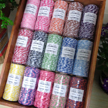 110Yards Per Spool 8ply Cotton Bakers Twine For Party Deco Gift Wrap Packing Cotton String 15 Colors For Choose(China)