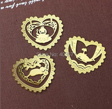 New fashion designs lace style Metal Bookmark Book marks Wholesale(China)