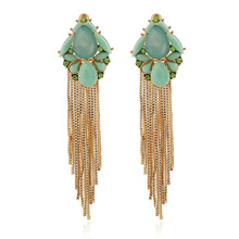 Brincos Ohrringe Phone 2pair wholesale USA style Bohemia Earring CA Stay Jewelry Girl cute flower all-match green Earrings