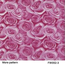 FW052-3 Decorative Material 10 square Width 0.5m pink rose flower patterns water transfer printing film(China)