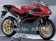 Hot Sales,Hot sale Customized F4 full set fairing For MV Agusta F4 RR 312 1079 1000 05-06 Red and Black Motorcycle Fairings