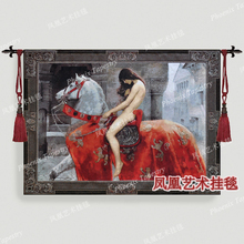 Art tapestry fashion wall hangings soft new arrival - Lady Godiva Home textile decoration Leofric, Earl of Mercia Pretty woman