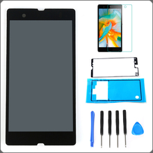 Black For Sony Xperia Z L36H L36i C6606 C6603 C6602 C660X C6601 LCD Display Touch Screen Assembly+Tools+ Adhesive+Protector Film