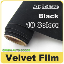 Wholesale High Quality Black Peach Skin Vinyl Wrap Film Velvet Film Self-adhesive Car Sticker 1.35m*15m(4.4ft*49ft)