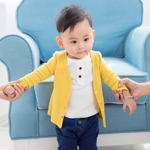 High Quality Baby Children Boys Girls Candy Color Knitted Cardigan Sweater Kids Spring Autumn Cotton Outer Wear(China)