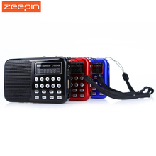 L - 065 Portable AM / FM Radio Music Speaker Support TF SD Card USB AUX Audio Input with Rechargeable Battery 2017 New Hot(China)