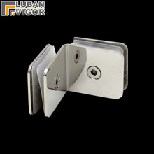 Stainless steel glass clamp, Mirror surface,90/180/0degree,Single retaining clip, shower, square cut folders Bathroom Hardware(China)