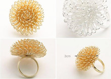 Korean Fashion Charming Lovely Dandelion Flower Ring Multilayer  8RD75