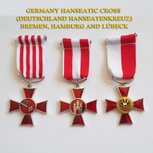 XDT0011 The Hanseatic Cross Medal Set Deutschland Hanseatenkreuz Awarded by Bremen, Hamburg and Lubeck Hanseatic WWI Medal(China)