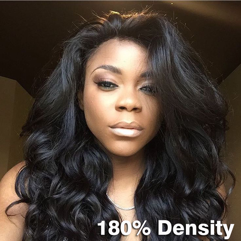 180 Density Body Wave Glueless Full Lace Human Hair Wigs For Black Women 8A Thick Mongolian Lace Front Wig With Baby Hair Around<br><br>Aliexpress