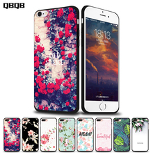 Mobile Phone Cases For Apple Iphone 5s Case for Iphone 5Se 6 S 6s 7 Plus Case Cover Luxury balck TPU Silicon Cartoon Paint cute(China)