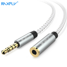 RAXFLY 3.5MM AUX Extension Cable For Phone Headphone Computer [0.5m 1m 2m] Male to Female 3.5 Jack Stereo Extension Audio Cable(China)