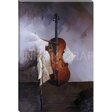 music studio room guitar top decorative wall paintings for home decor idea oil painting art print on canvas No Framed