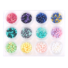 Newest Round Matte No Hole Pearls Beads Multi-color optional 6mm 1000pcs Individuality Nail Art Decorations