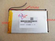 best battery brand 3.7V polymer lithium battery 606997 high capacity enough A 5000mAH digital equipment(China)