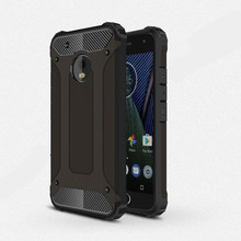 For MOTO G5 PLUS case Shockproof Slim Hybrid rugged armor caus carbon phone case anti knock 360 double protector Cover ( XX1221