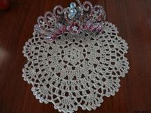 Free shipping 30 pic/lot 100% handmade lace doilies as kitchen accessories with flower  home decor coaster placemat photo props