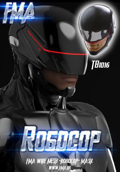 FMA Halloween Fancy Dress Ball Mask Collection Edition Steel Wire Network Ldquo Robocop Rdquo Mask TB 1016<br><br>Aliexpress