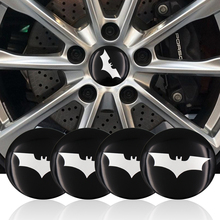 4pcs/lot 56.5mm Batman Black Alloy Car Wheel Center Hub Caps Sticker Emblemn Auto Modified for BMW Nissan Opel MG Car-styling(China)