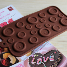 Button Shape Silicone Mold Jelly\Soap\Chocolate mould DIY Baking Cake Decorating Tools Kitchen Accessories Bakeware
