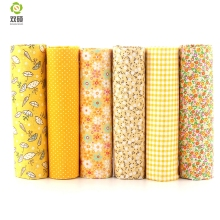 Cotton Fabric No Repeat Design Yellower Series Patchwork Fabric Fat Quarter Bundle Sewing For Fabric 6 pieces 50cm*50cm A1-6-2