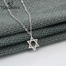Todorova Retro Jewish Jewelry Magen Star of David Necklaces for Women Pendant Israel Emblem Talisman Seal of Solomon Sign(China)