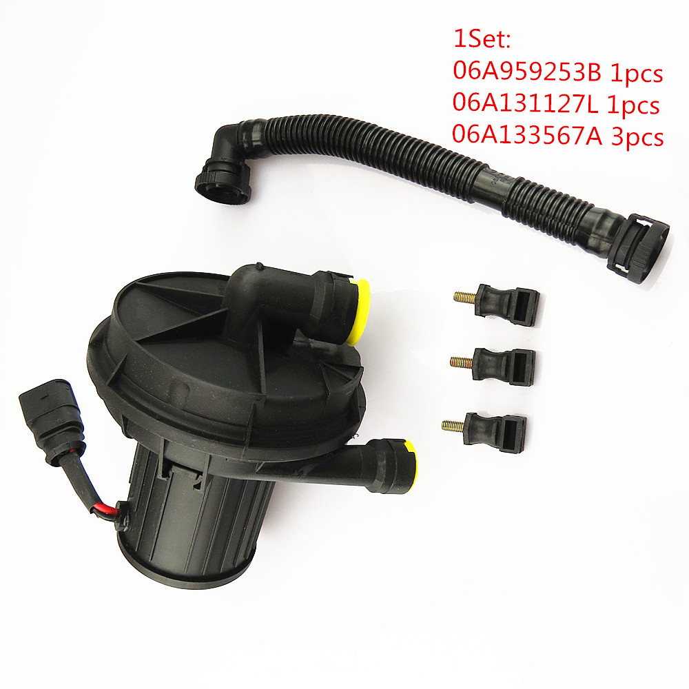 Secondary Auxiliary Smog Air Pump Connecting Pipe For VW Passat B6 06A 131 127L