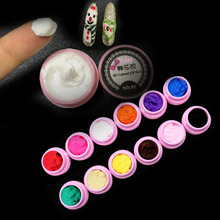 Yiday 1 pcs 3D Carving UV Gel Feel like Clay Plasticine Emboss Paint Modeling 4D Sculpture Soak Off UV / LED Lamp Nail Art Tips(China)