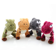1pcs random color to sell you 10CM Dinosaur plush toy pendant, Tyrannosaurus baby doll ornaments car keys
