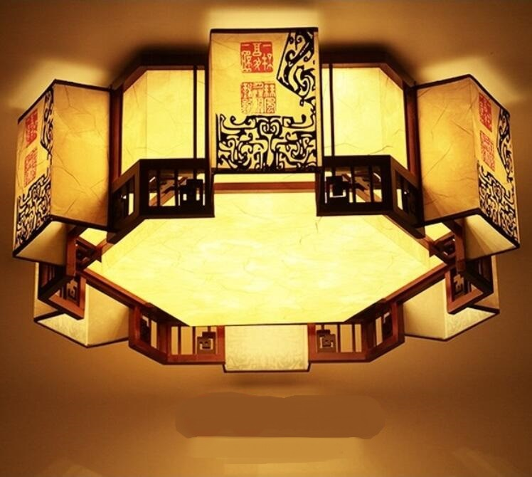modern Chinese style living room classical creative shaped ceiling lights dinner room bedroom tea store ceiling lamp ZH