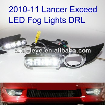 2010-2012 year Lancer Exceed LED Fog Light LED DRL Daytime Running Light V1<br><br>Aliexpress