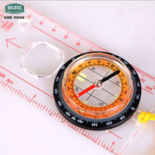 Rolriss Acrylic Transparent Outdoor Drive Map Measurement Compass Directional Ones Brujula Digital Compass Boussole Randonnee