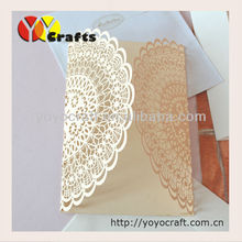 paper laser cutting invitation cards ivory laser cut luxurious wedding invitation card