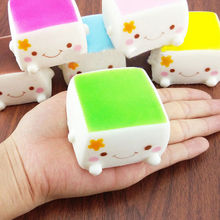 Squishy Tofu Rare Jumbo Bun Slow Rising Squeeze Squishy Charms Cute Soft scented Bread Phone Straps Kids Toy girl gift Decor