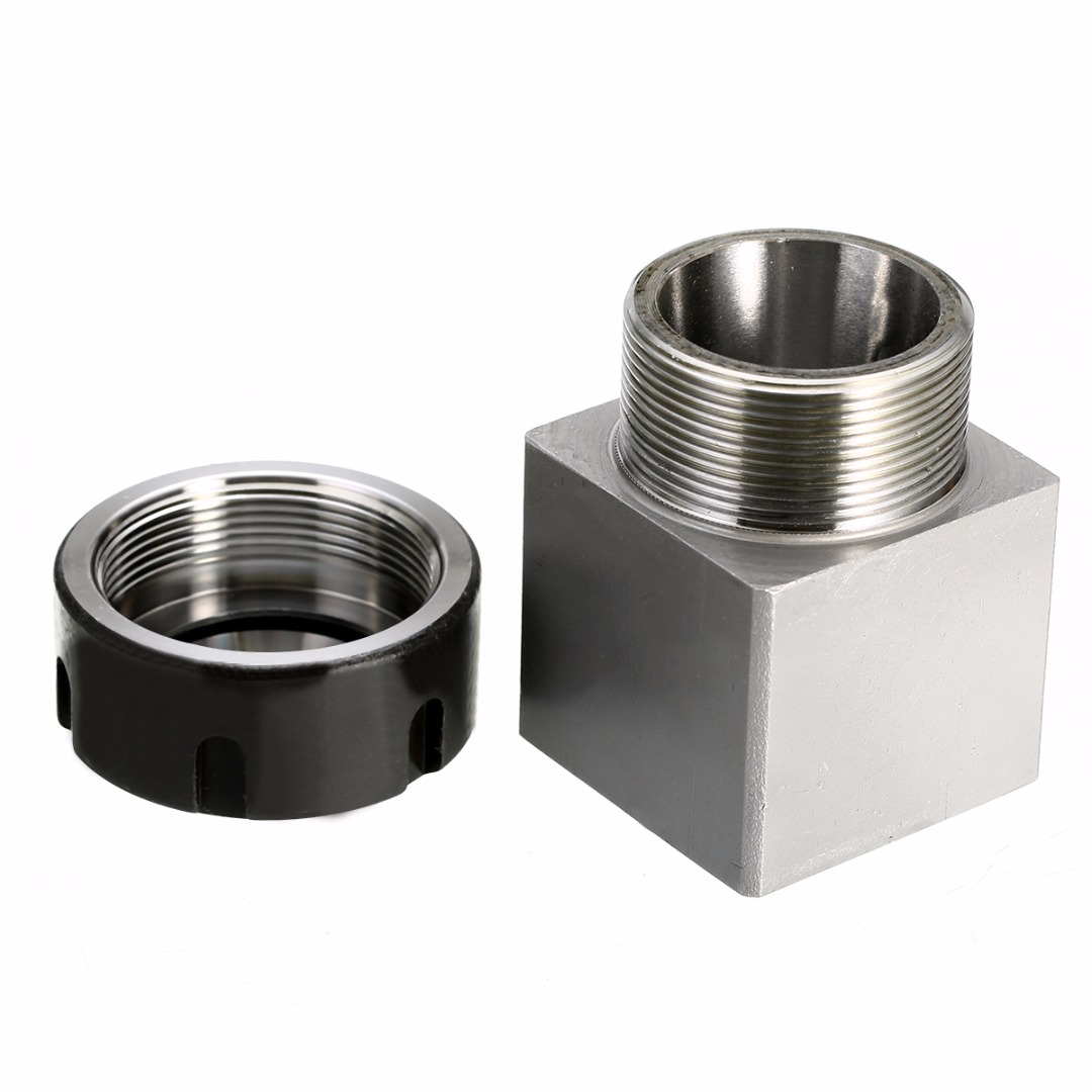 Durable ER-32 Collet Chuck Holder Square Collect Block 45x65mm Hard Steel For CNC Lathe Engraving Machine