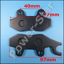 Free Shipping Left Side Brake Pads For Kazuma XinYang Jaguar 500CC Quad ATV Parts(China)