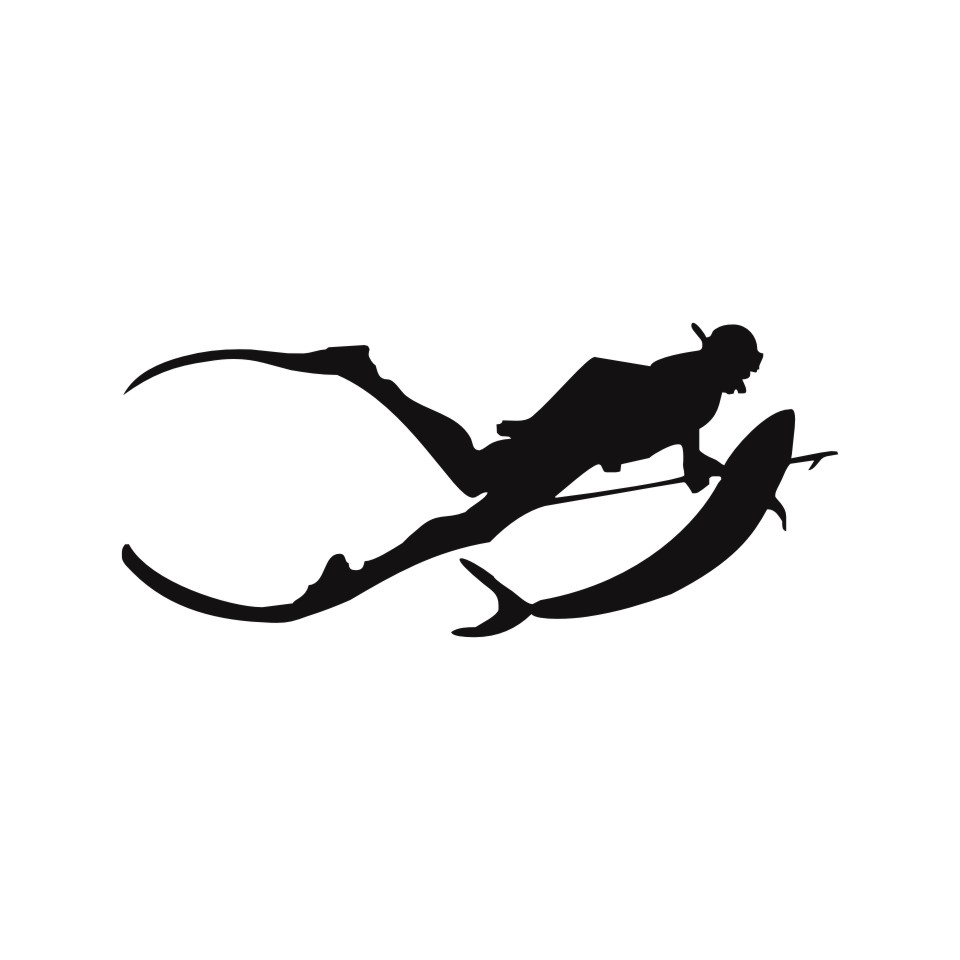 Cunymagos Free Diving SpearFishing Diving Snorkelling Vinyl Decal Sticker Car-styling Motorcycle Auto Wall Stickers 17.77 (3)