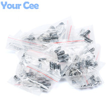 120pcs 12 Values 1UF-470UF Aluminum Electrolytic Capacitor Assortment Kit for 1UF 2.2UF 3.3UF 4.7UF 10UF 22UF 33UF 47UF 100UF(China)