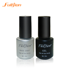 Fulljion Gel Nail Primer 7ml Top Coat Top it off + Base Coat Foundation for UV Gel Polish Best on Ali New Style Nail Lacquer