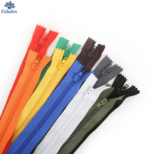 20cm Length Multi Colors 10Pcs/lot Long Invisible Zippers DIY Nylon Coil Zipper For Sewing Clothes Cushion Pillow Tailor Tool