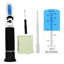 Portable Hand Held 0-80% alcoholometer Alcohol refractometer liquor alcohol Content Tester with ATC 39%off(China)