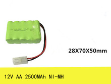1X 12V AA 2500mAh NI-MH battery pack Rechargeable batteries Free shipping