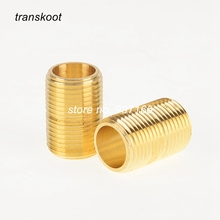 "3326 56112 ASTM B584 ASME/ANSI B16 1/8"" 1/4"" 3/8"" NPT Male Brass Pipe Fitting Close Nipple"