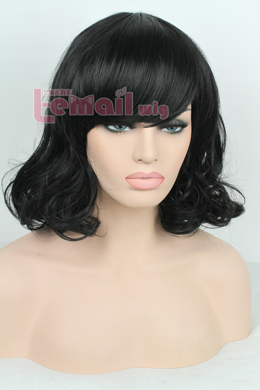 Free Shipping 35cm black Medium Small volume women Fashion wig FM01B<br><br>Aliexpress