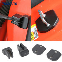 Door Lock Hook Black Hood Lock Cover Gap Limitation RestructionProtect Trim Catches Latches Kits for Ford Mustang 2015 16 17 Up(China)