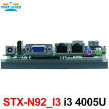 Fanless nano pc motherboard i3 4005U i3 4020Y i3 4010U intel nuc board with dual ethernet(China)